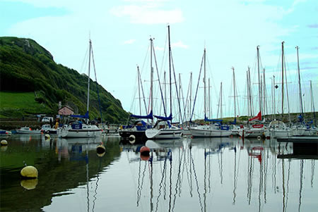 boats in seaton harbour